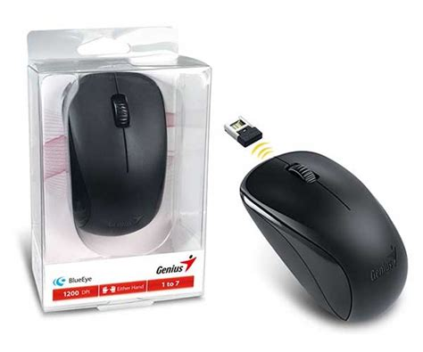 Wifi Genius mouse wireless genius nx 7000 blueeye preto 1200dpi 31030109117 pichau