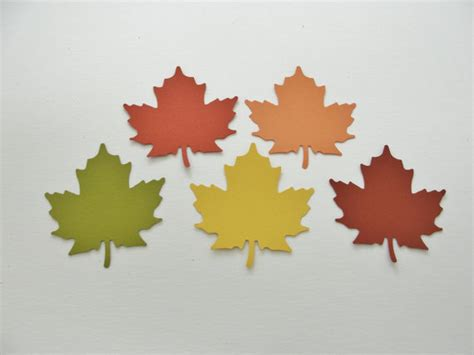 How To Make Fall Leaves Out Of Paper - autumn fall paper leaf leaves paper cut outs cutouts scrapbook