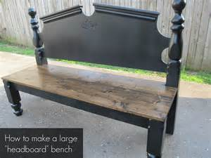 make a bench out of a headboard and footboard pretty headboard bench my repurposed