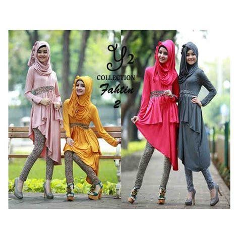 Set Az Abu Stelan Wanita Baju Stelan Muslim baju gamis setelan fathin 3in1 r115 busana muslim remaja