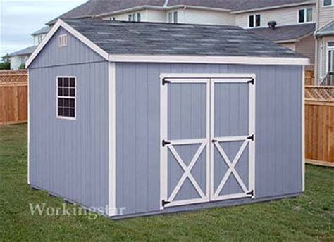 gable design storage shed project plans