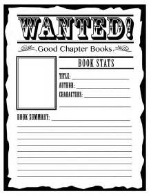 Book Report Ideas For 4th Grade by Wanted 4th Grade Reading Ideas For Summarizing A Story