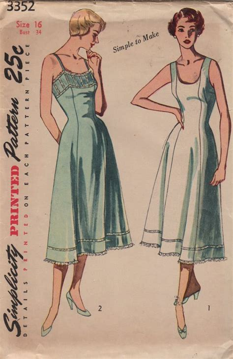 regex pattern length simplicity 3352 1950s ladies lingerie pattern regular