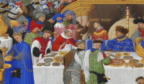 banchetti medievali con quale coraggio infangate il medioevo