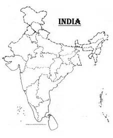 Blank Outline Political Map Of India by India Blank Map Kpratikn Flickr