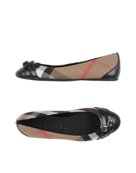 Burberry Shoes Flat burberry ballet flats in multicolor black lyst