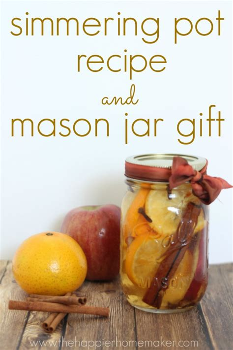 simmer pot recipes the scent of fall easy simmering pot recipe and mason jar