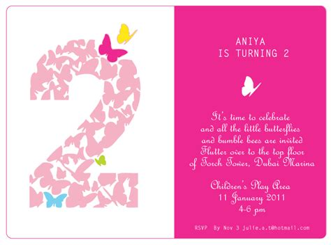 2nd birthday invitation card template 2nd birthday quotes for quotesgram