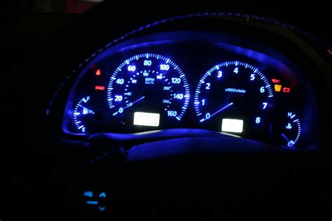 blue led dash lights anyone how to change color of dash lights from orange