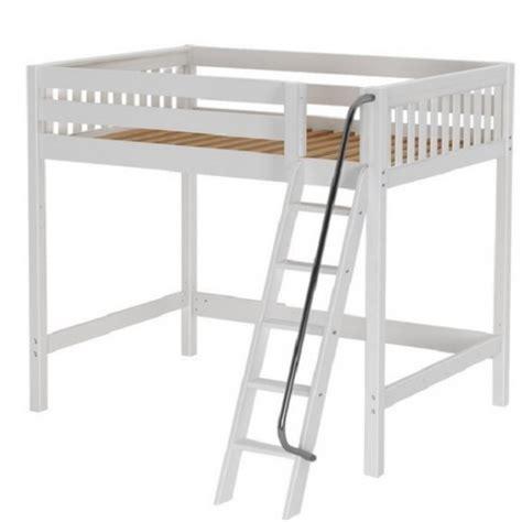 white size loft bed wooden white slat high loft bed size