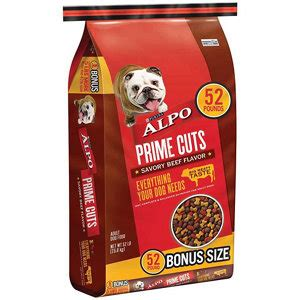 Food Alpo Prime Cuts With Beef Flavor In Gravy 623g alpo prime cuts savory beef flavor food 52 lb bonus bag at tractor supply co