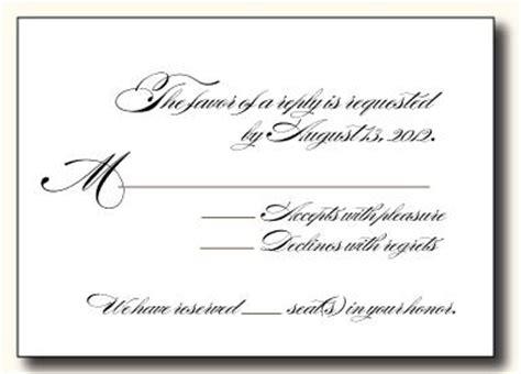wording for rsvp wedding cards 5 types of wedding rsvp card wording paperblog