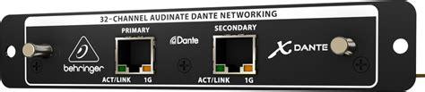 Behringer X Dante 32 Channel Dante Card Expansion Mixer Digital X32 effects behringer expansion card dante 32ch benhringer for x32