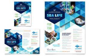 ocean aquarium flyer amp ad template design