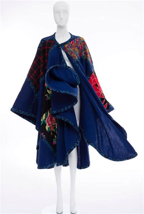 Patchwork Cloak - koos den akker royal blue cloak with floral quilted