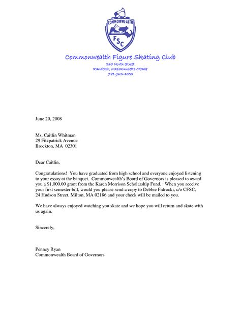 Questbridge Scholarship Letter Of Recommendation leadership scholarship recommendation letter sle
