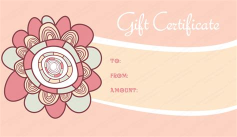 printable beauty vouchers simple artistic gift certificate template pr