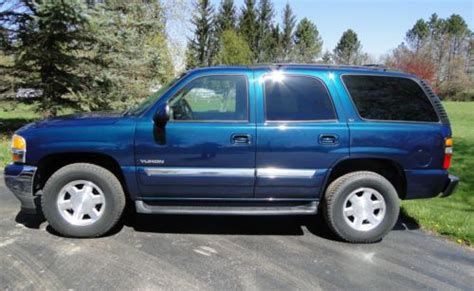 2005 gmc yukon slt ebay find used 2005 gmc yukon slt 1500 awd 59k mi suv automatic 5 3l v8 blue green crystal pnt in