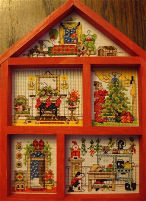 stitch house cross stitch dollhouses christmas house hutch