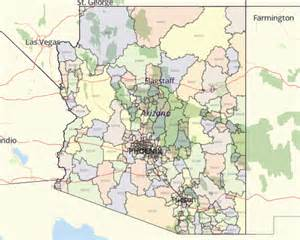 zip code map arizona arizona zip code map
