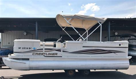 pontoon boats kalispell montana 2007 used crestliner 2085 sport pontoon boat for sale