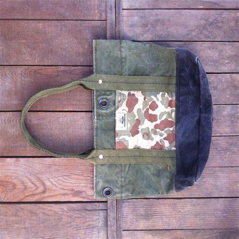 military tote bag pattern jyumoku short tote repurposed military duffle bag canvas