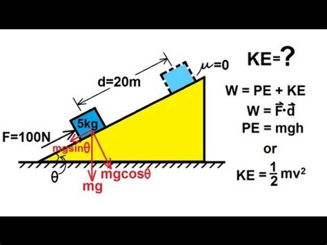 physics incline physics mechanics work energy and power 6 of 20