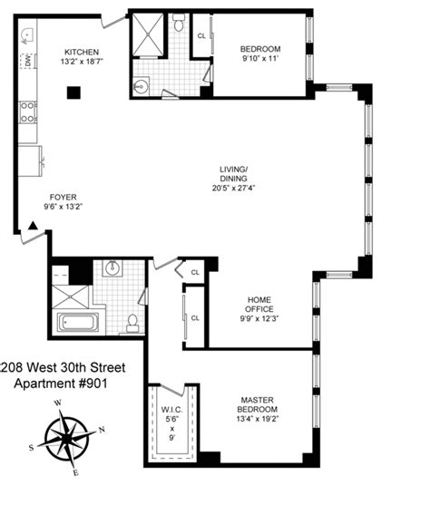 Apartment Floor Plans In New York City 208 West 30th Apartments For Rent In Chelsea