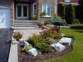 small front yard landscaping home round
