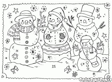 coloring page snowman family coloring page family of snowmen
