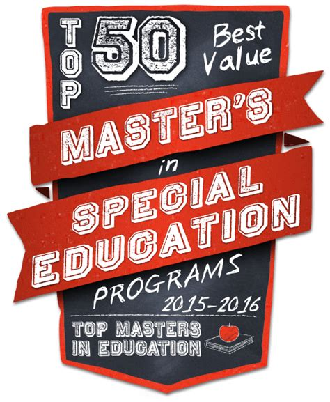 best 1 year masters programs top 50 best value masters in special education programs