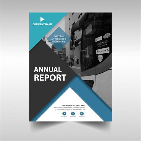 Financial Report Template Editor Annual Business Report Template Vector Free