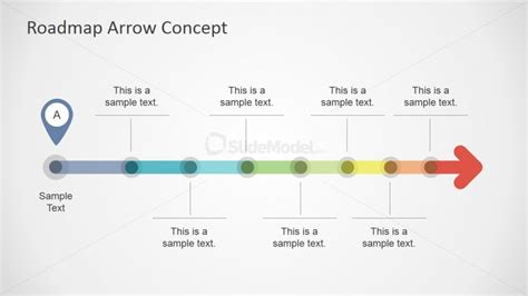 02 horizontal colorful roadmap design   SlideModel