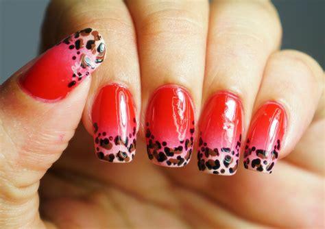 tutorial nail art degrade unhas decoradas degrad 234 oncinha francesinha leopard