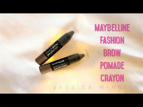 Alis Maybelline Crayon maybelline fashion brow pomade crayon makeup review