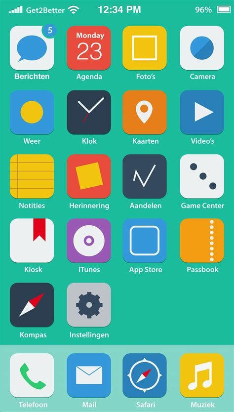 ui design tutorial medicine delivery app homescreen flat home icons ios 7 infographic designer