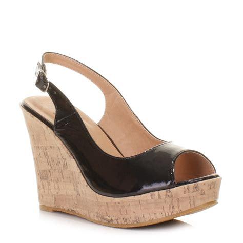 black platform sandals black wedge sandals cork