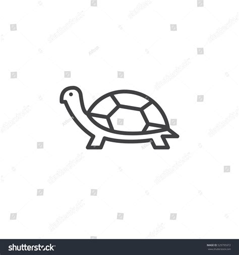 Turtle Outline Vector by Turtle Line Icon Outline Vector Sign Stock Vector 529795972