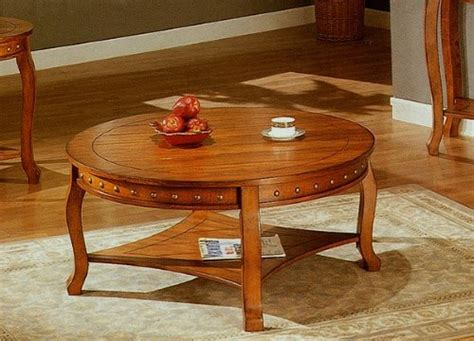 Coffee Tables Low Prices Nailhead Style Round Nailhead Coffee Table