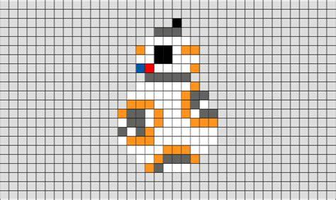 bb8 star wars pixel art brik