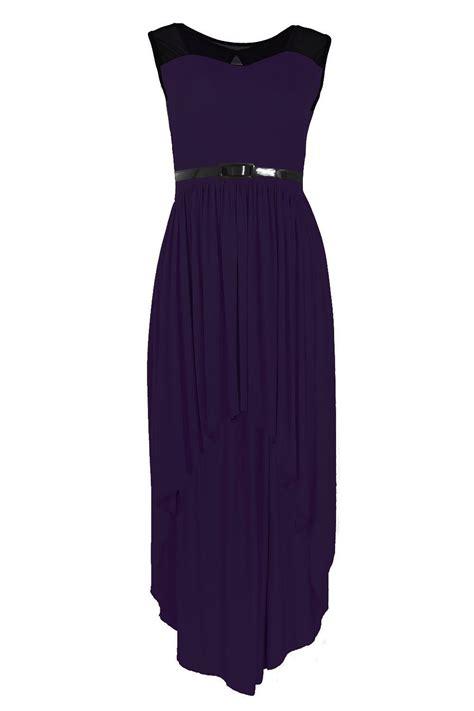 Tc49 Midi Keyhole Maxi Dress womens back lace keyhole insert mesh high low belt midi maxi dress top ebay