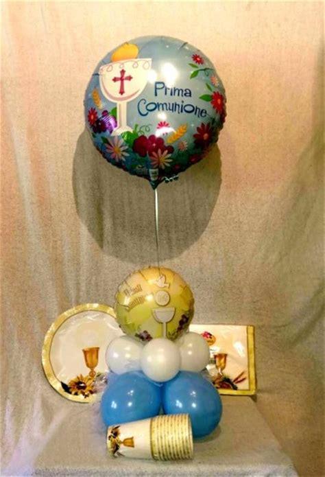 palloncini volanti prima comunione addobbi o composizioni di palloncini