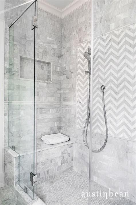chevron bathroom ideas chevron shower tiles transitional bathroom bean design studio