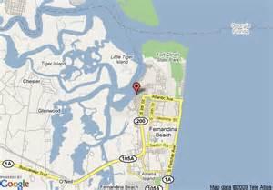 map of hton inn suites amelia island fernandina