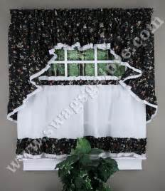 Kitchen Curtain Swags cherries ruffled kitchen curtains cafe tiers swags