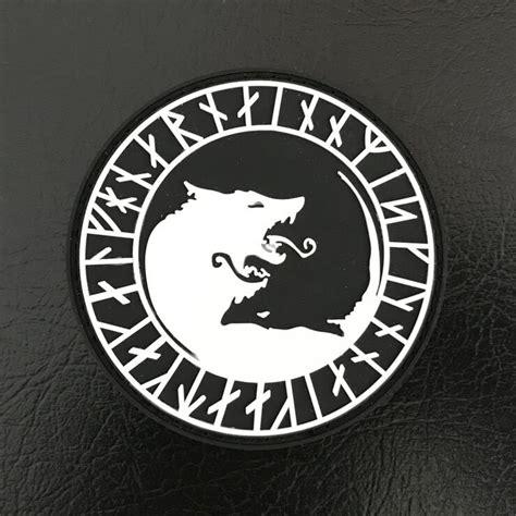 Patch Rubber Polhut Logo Tactical 2pcs rubber wolf patch 3d pvc luminous tactical emblem hook light armband morale