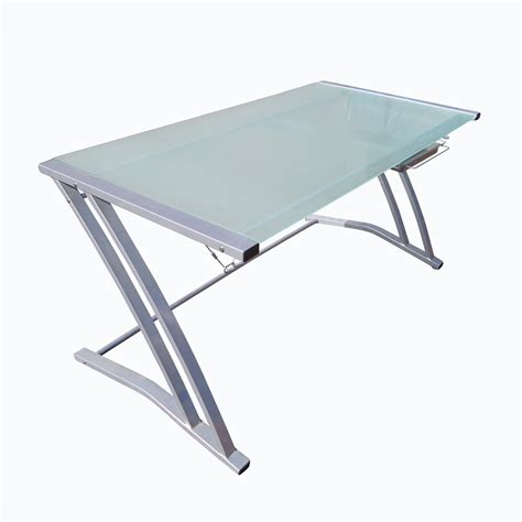 modern z style glass and aluminum desk ebay