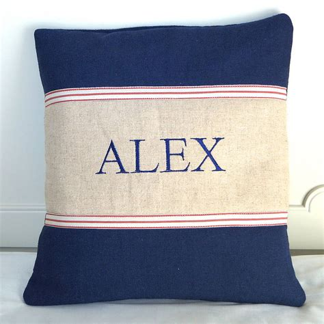 tuppenny house designs man name cushion by tuppenny house designs notonthehighstreet com