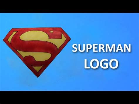 tutorial logo superman full download how to draw superman logo step by step