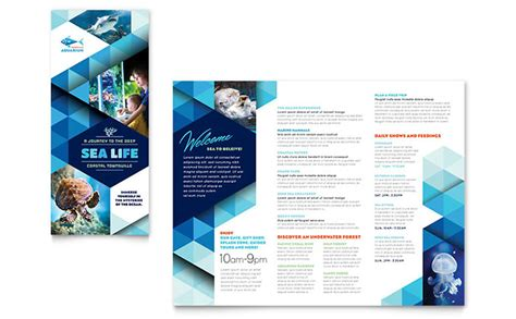 templates of brochures ocean aquarium brochure template design